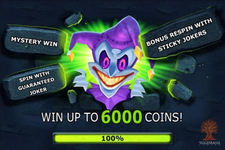 Play slots at Crazy vegas: Crazy vegas featuring the Video Slots The Dark Joker Rizes with a maximum payout of $1,800