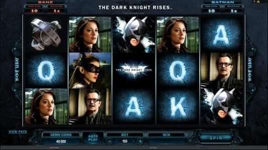 Cabaret Club featuring the Video Slots The Dark Knight Rises with a maximum payout of $445,000