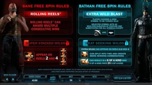 Play slots at Vegas Country: Vegas Country featuring the Video Slots The Dark Knight Rises with a maximum payout of $445,000