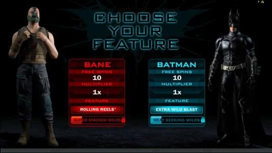 Yako Casino featuring the Video Slots The Dark Knight Rises with a maximum payout of $445,000