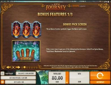 YouWin featuring the Video Slots The Epic Journey with a maximum payout of $2,000