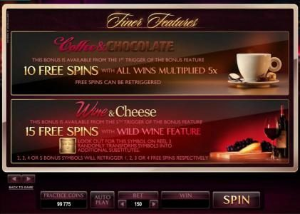 Play slots at Ruby Fortune: Ruby Fortune featuring the Video Slots The Finer Reels of Life with a maximum payout of $90,000