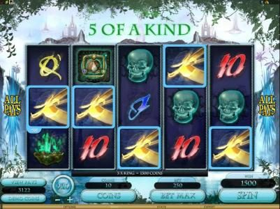 Casino Red Kings featuring the Video Slots The Forgotten Land of Lemuria with a maximum payout of $187,500