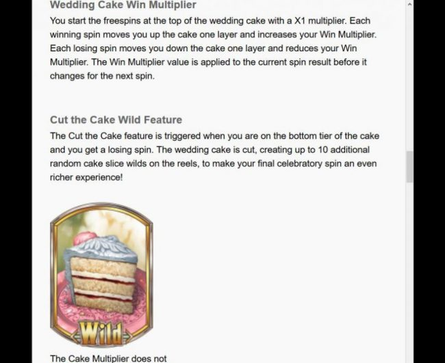 The Godfather :: Wedding Cake Win Multiplier Rules