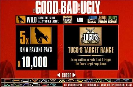 Gorilla featuring the Video Slots The Good, The Bad and The Ugly with a maximum payout of $250,000