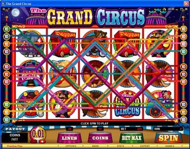 Casino Classic featuring the Video Slots The Grand Circus with a maximum payout of $20,000