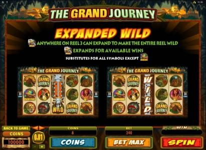 Blackjack Ballroom featuring the Video Slots The Grand Journey with a maximum payout of $12,000