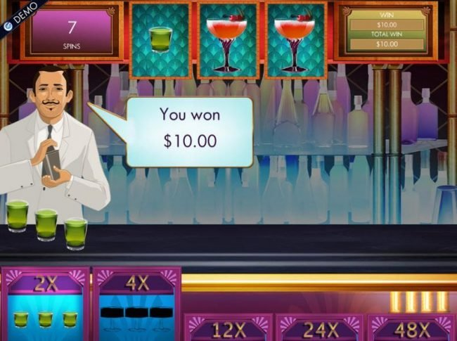 Collect 3 bonus symbols per level. Here a 10.00 payout is awared for collecting 3 bonus symbols to complete level 1.