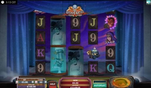 Chanz featuring the Video Slots The Great Escape Artist with a maximum payout of $3,000