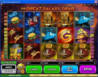 Grand Hotel featuring the Video Slots The Great Galaxy Grab with a maximum payout of $22,500