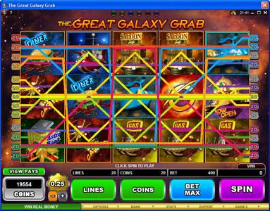 Virtual City featuring the Video Slots The Great Galaxy Grab with a maximum payout of $22,500
