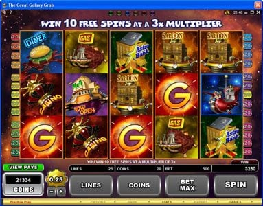 Play slots at Virtual City: Virtual City featuring the Video Slots The Great Galaxy Grab with a maximum payout of $22,500