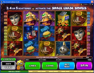 Play slots at Crystal: Crystal featuring the Video Slots The Great Galaxy Grab with a maximum payout of $22,500