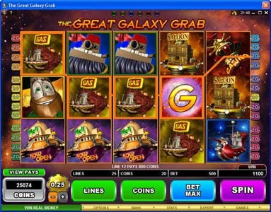 Mongoose Casino featuring the Video Slots The Great Galaxy Grab with a maximum payout of $22,500