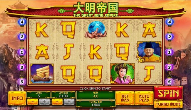 Sky Kings featuring the Video Slots The Great Ming Empire with a maximum payout of $200,000