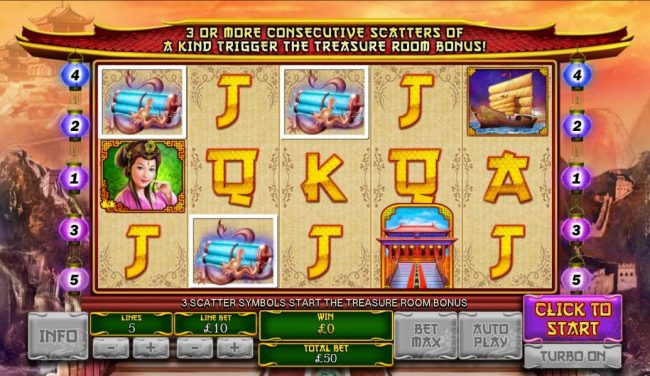 Coral featuring the Video Slots The Great Ming Empire with a maximum payout of $200,000