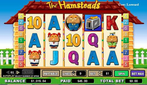 Fruity Vegas featuring the video-Slots The Hamsteads with a maximum payout of 5,000x