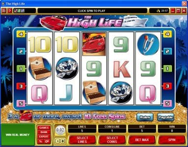 Music Hall featuring the Video Slots The High Life with a maximum payout of 1,500x