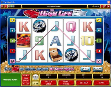 Phoenician featuring the Video Slots The High Life with a maximum payout of 1,500x