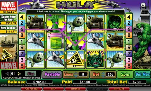 Play slots at Omnia: Omnia featuring the video-Slots The Hulk with a maximum payout of 2,000x