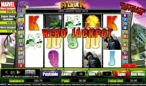 hero jackpot awarded - payout added to our balance