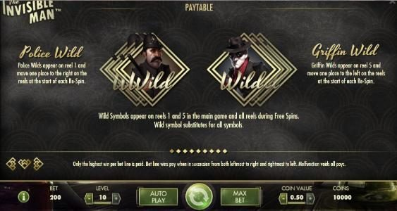 Dream Vegas featuring the Video Slots The Invisible Man with a maximum payout of $2,500