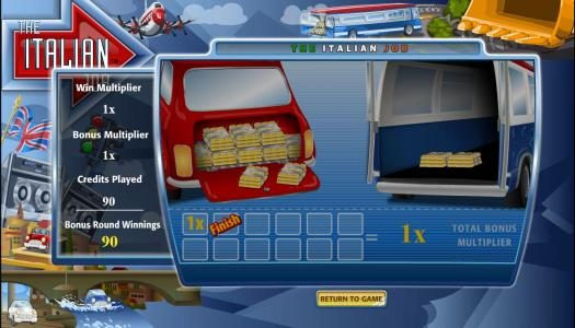 EU Casino featuring the Video Slots The Italian Job with a maximum payout of $125,000