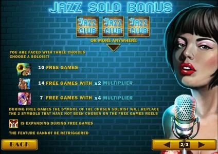Royal Dice featuring the Video Slots The Jazz Club with a maximum payout of $50,000