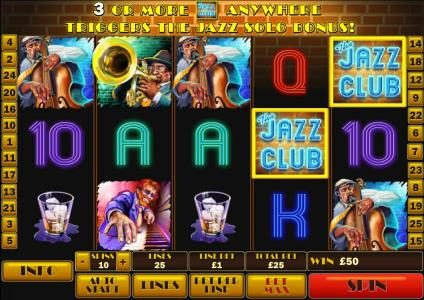 MANSION featuring the Video Slots The Jazz Club with a maximum payout of $50,000