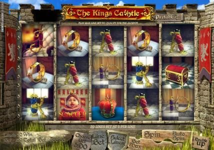 Solara featuring the Video Slots The King's Ca$htle with a maximum payout of $4,000