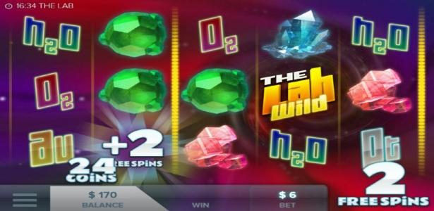 Clover Casino featuring the Video Slots The Lab with a maximum payout of $276,000