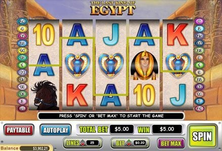 Lincoln featuring the Video Slots The Last King of Egypt with a maximum payout of $90,000