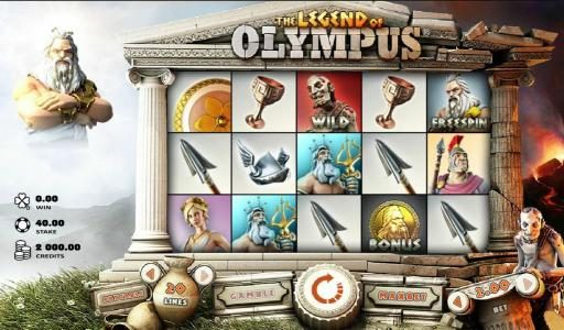 Play slots at CKcasino: CKcasino featuring the Video Slots The Legend of Olympus with a maximum payout of $40,000