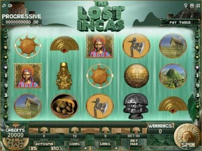 Play slots at Campeon: Campeon featuring the Video Slots The Lost Incas with a maximum payout of Jackpot
