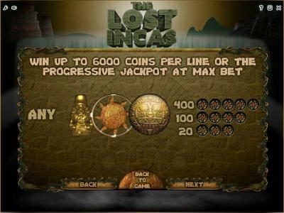 Play slots at Wintingo: Wintingo featuring the Video Slots The Lost Incas with a maximum payout of Jackpot