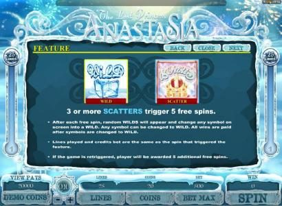 Intercasino featuring the Video Slots The Lost Princess Anastasia with a maximum payout of $4,000