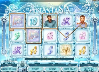 Spin Prive featuring the Video Slots The Lost Princess Anastasia with a maximum payout of $4,000
