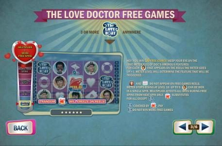 The Love Doctor Free Games - three or more game logo symbols anywhere