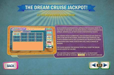 The Dream Cruise Jackpot - game rules
