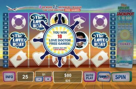 Class 1 Casino featuring the Video Slots The Love Boat with a maximum payout of $75,000