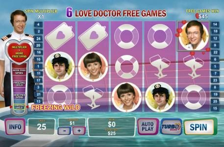 With each winning combination the Love Doctor Meter is raised awarding prizes along the way