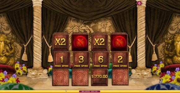 a 4x multiplier is awarded