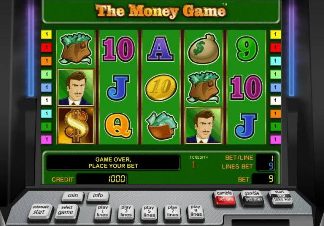 Winner Million featuring the Video Slots The Money Game with a maximum payout of $9,000