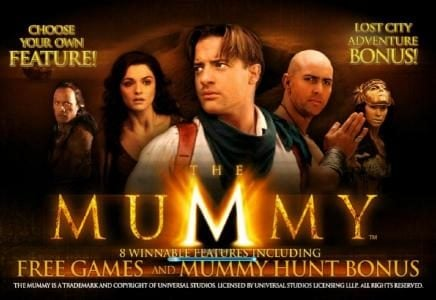Sky Kings featuring the Video Slots The Mummy with a maximum payout of $10,000