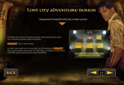 lost city adventure bonus triggered randomly in main game
