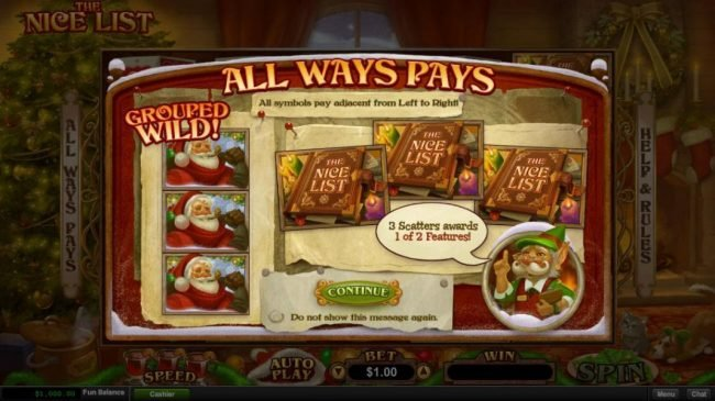 Play slots at Planet7 Oz: Planet7 Oz featuring the Video Slots The Nice List with a maximum payout of $25,000