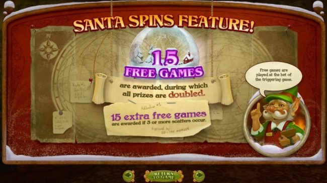 Palace of Chance featuring the Video Slots The Nice List with a maximum payout of $25,000