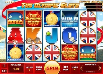 Joe Fortune featuring the Video Slots The Olympic Slots with a maximum payout of Jackpot
