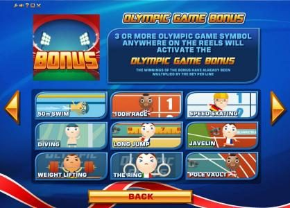Wicked Bet featuring the Video Slots The Olympic Slots with a maximum payout of Jackpot