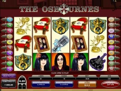 Play slots at Omnia: Omnia featuring the Video Slots The Osbournes with a maximum payout of $75,000
